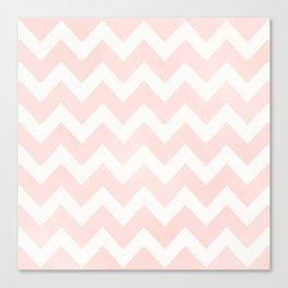 Pink Coral Chevron Canvas Print