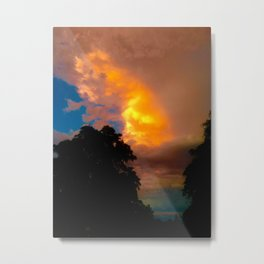 Florida Sunrise Orange Sky Metal Print