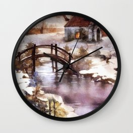 Winter Shelter Wall Clock