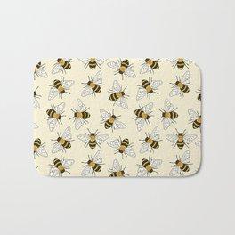 Busy Bees on buttermilk Pattern Bath Mat