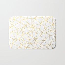Ab Outline White Gold Bath Mat