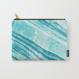 Abstract Marble - Teal Turquoise Carry-All Pouch