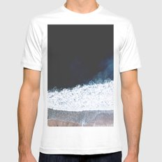Ocean III (drone photography) Mens Fitted Tee MEDIUM White