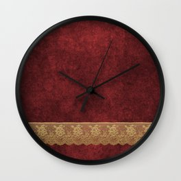 Red Lace Velvet 03 Wall Clock