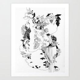 Caught In-Between Art Print