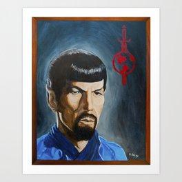 Mirror Mirror Spock Art Print
