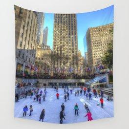 New York Ice Skating Wall Tapestry