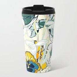 vintage floral pattern 3 Metal Travel Mug