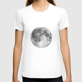 Full Moon phase print black-white monochrome new lunar eclipse poster home bedroom wall decor T-shirt