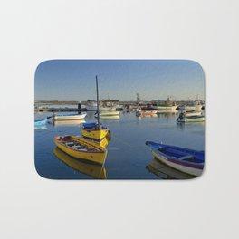 Santa Luzia boats, the Algarve, Portugal Bath Mat