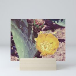 Yellow Cactus Flower Mini Art Print