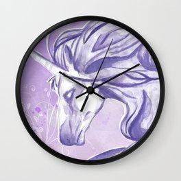 PURPLE UNICORN Wall Clock