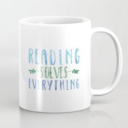 Reading Solves Everything (Green/Blue) Coffee Mug