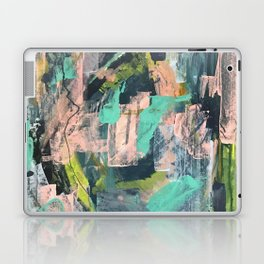 Connect: a vibrant acrylic abstract in neon green, blues, pinks, & hints of orange Laptop & iPad Skin