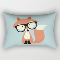Hipster Red Fox Rectangular Pillow
