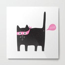 bad kitty PAW Metal Print