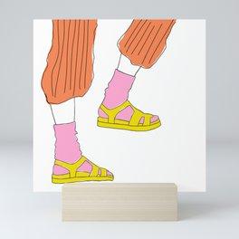 Socks and Sandals Mini Art Print