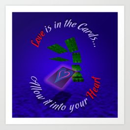 Love Is In The Cards Art Print