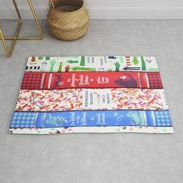 Pretty Book Stack Part 2 Rug