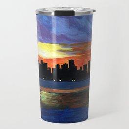 Downtown Miami Skyline Travel Mug