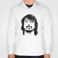 dave grohl Hoodies featuring Dave Grohl - Legend by Matty723