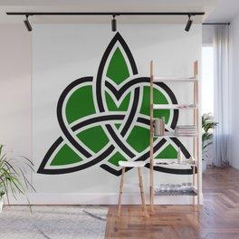 Celtic Valknut Trinity Knot With Interwoven Heart Wall Mural
