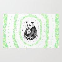 pandas Area & Throw Rugs featuring PANDAS! by Sagara Hirsch