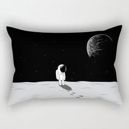 Walking Astronaut on Planet Rectangular Pillow