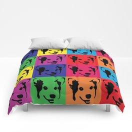 Corgi Pop art - dog pop art, corgi, cute, bright colorful, warholesque Comforters