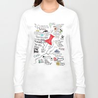 paper towns Long Sleeve T-shirts featuring Paper towns, John Green by Natasha Ramon