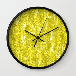 Subtle interweaving of sparkling smudges from gold lava and light chaotic cycle. Wall Clock