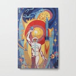 cosmonaut mosaic Metal Print