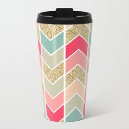 Distorted Chevron in Dream Sequence Metal Travel Mug