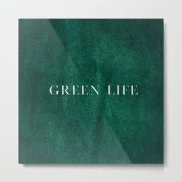 Minimalistic Green Life Metal Print