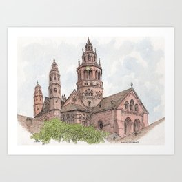 Mainz Cathedral Art Print