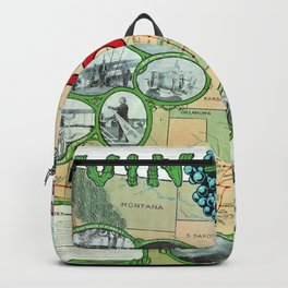 Vintage poster - Vin Fiz Backpack