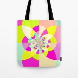 Bright & Pastel Kaleidoscope Tote Bag