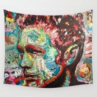 gun Wall Tapestries featuring Machine Gun by Matt Pecson