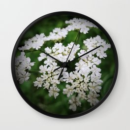 Cow Parsley Flower Wall Clock