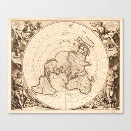 World Map circa 1713 (Planisphere terrestre) Canvas Print