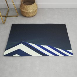 Circus Tent in Dark Cobalt Blue Rug