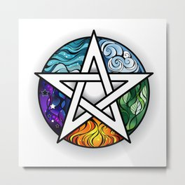 Bright Pentagram Metal Print