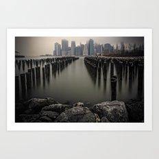 Misty Manhattan Morning Art Print