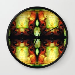 Healing Energy - Visionary Art By Sharon Cummings Wall Clock