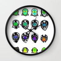 third eye Wall Clocks featuring Third Eye by Yuriy Miron