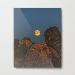 Moon Mountain at Beardsley Boulders Metal Print