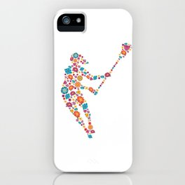 Lacrosse  Flower gift for Lacrosse Player iPhone Case