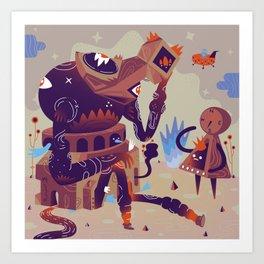 Day Dreamer feat Lost Traveler Art Print