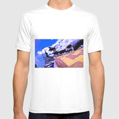 Starting to build my dream. White MEDIUM Mens Fitted Tee