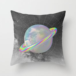 Colorful Planet Throw Pillow